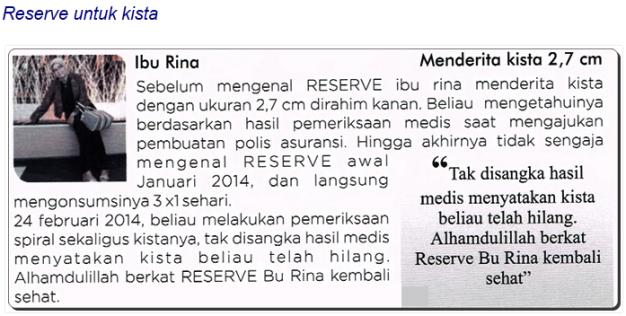 testimoni_reserve_kista_ibu_rina